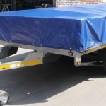 3.5 Ton Drop side trailer with PVC cover