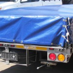 3.5 Ton Drop side trailer with PVC cover2