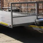 6m x 2.3m 3.5 ton flat deck trailer