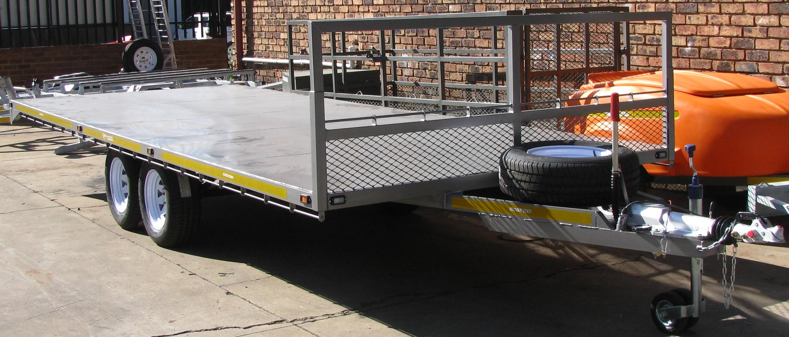 X factor sport 6m x 3 5 ton flat deck trailer for 6 metre lengths of decking