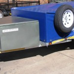 750kg GVM galvanized commercial trailer with pvc cover1