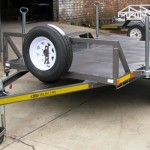 Borehole drill rig trailer