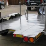 Borehole drill rig trailer1