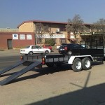 Car and loading trailer1