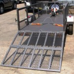 Commercial and single bike trailer with solid loading ramp1