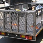 Commercial and single bike trailer with solid loading ramp2