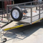 Commercial and single bike trailer with solid loading ramp3