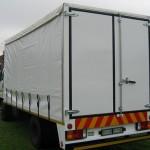 Curtain rail truck body