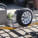 Custom double bike tilt trailer1