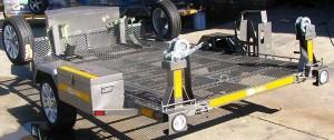 Custom double bike tilt trailer2