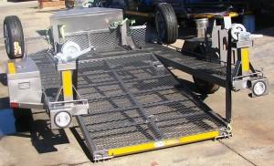 Custom double bike tilt trailer3