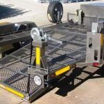 Custom double bike tilt trailer4