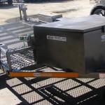 Custom double bike tilt trailer