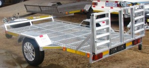 Custom galvanized golf cart trailer1