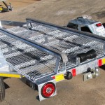 Custom mini jet ski trailer with removable tow bar