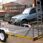 Custom side by side & two wheeler trailer1