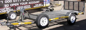 Custom trailer with drop down loading ramp1