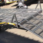 Custom trailer with drop down loading ramp2