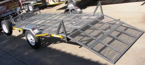 Custom trailer with drop down loading ramp2