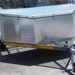 Custom triple bike trailer with extra large nose cone2