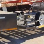 Custom triple bike trailer with fold down ramp1