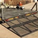 Custom triple bike trailer with fold down ramp2
