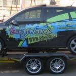 Dbl axle car trailer