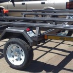 Dbl jet ski trailer painted low profile wheels