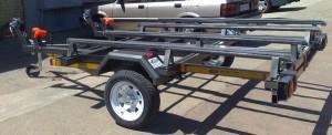 Dbl jet ski trailer painted low profile wheels