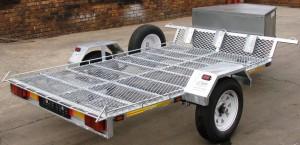 Double bike or single quad trailer galvanized1 (2)