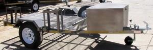 Double bike trailer 14 wheels2