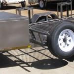 Double bike trailer 14 wheels
