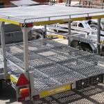 Double decker kart and triple bike trailer