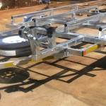 Double jet ski galvanized trailer