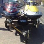 Double jet ski trailer
