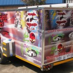 Double quad enclosed racing trailer3