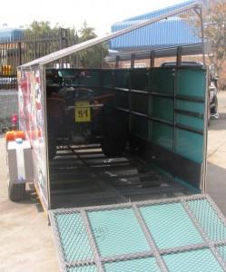 Double quad enclosed racing trailer5