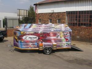 Double quad enclosed racing trailer7