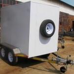 Enclosed 2.7 Ton GVM trailer