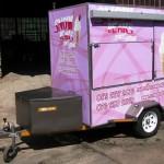 Enclosed ice cream vending trailer