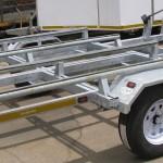 Galvanized double jet ski trailer1