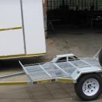 Galvanized machine loading trailer
