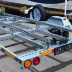 Galvanized tilting rubber duck trailer