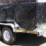 Heavy duty 3.5 ton commercial trailer with PVC cover