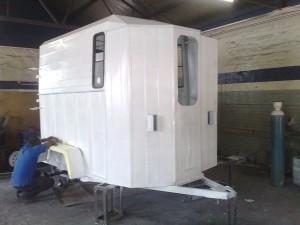 Horse box trailer refurb painting