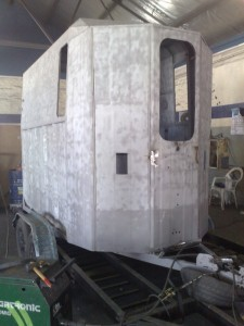 Horse box trailer refurb sandblasting1