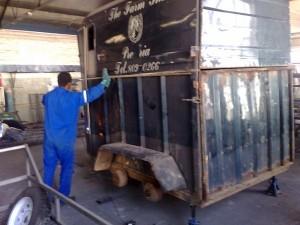 Horse box trailer refurb stripping