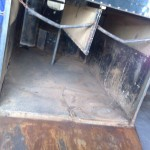 Horse box trailer refurb stripping1