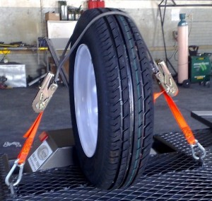 Rear wheel tie down1