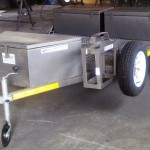 Side loader with storage boxes